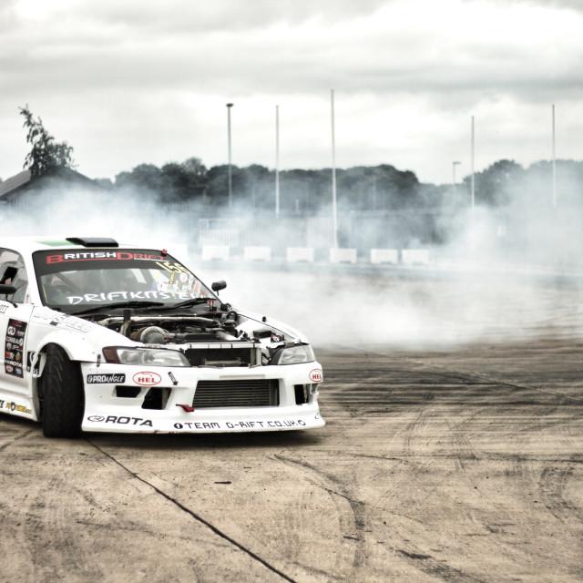 """Burning tyres"" stock image"
