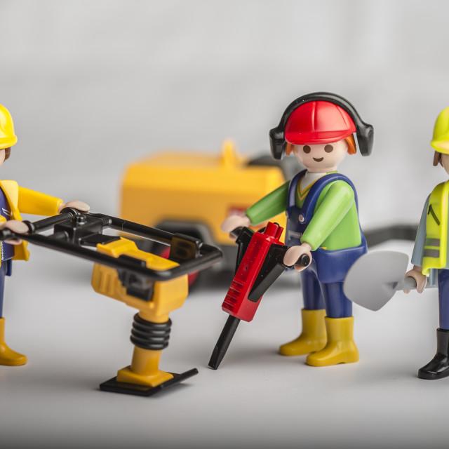 """Road Maintenance"" stock image"