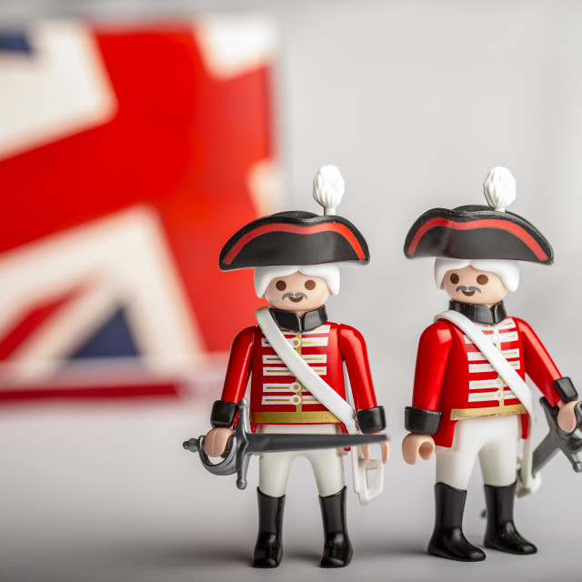 """British Soldiers"" stock image"