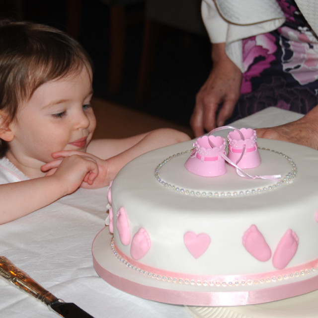 """Christening cake"" stock image"