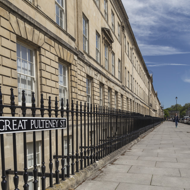 """Bath City - Great Pultney Street"" stock image"