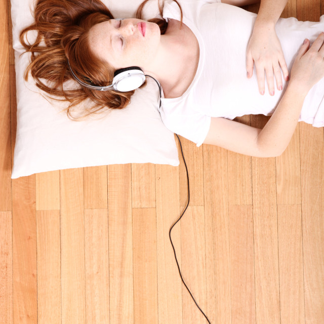 """Listening Music"" stock image"