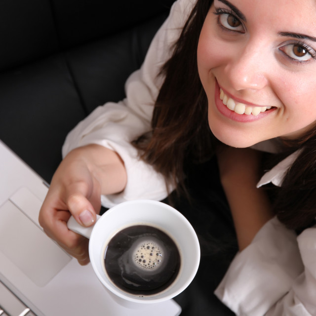 """""""Coffee and Laptop"""" stock image"""