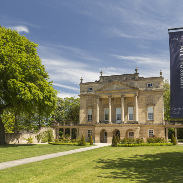 """The Holburne Museum, City of Bath, UK"" stock image"