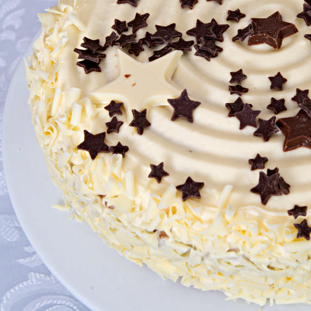 """White chocolate cake"" stock image"