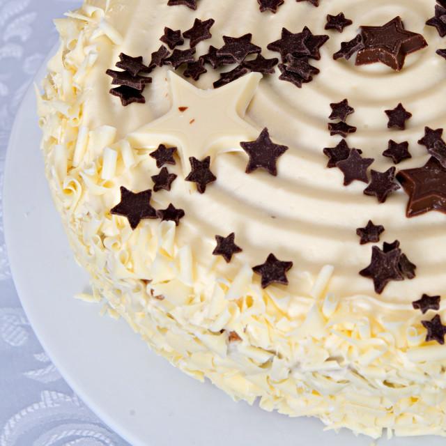 """White chocolate cake"" stock image"