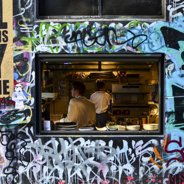 """Hosier Lane, Melbourne"" stock image"