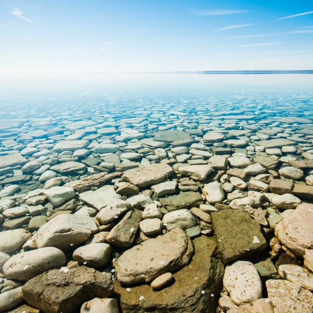 """Rocky Landscape of Georgian Bay"" stock image"