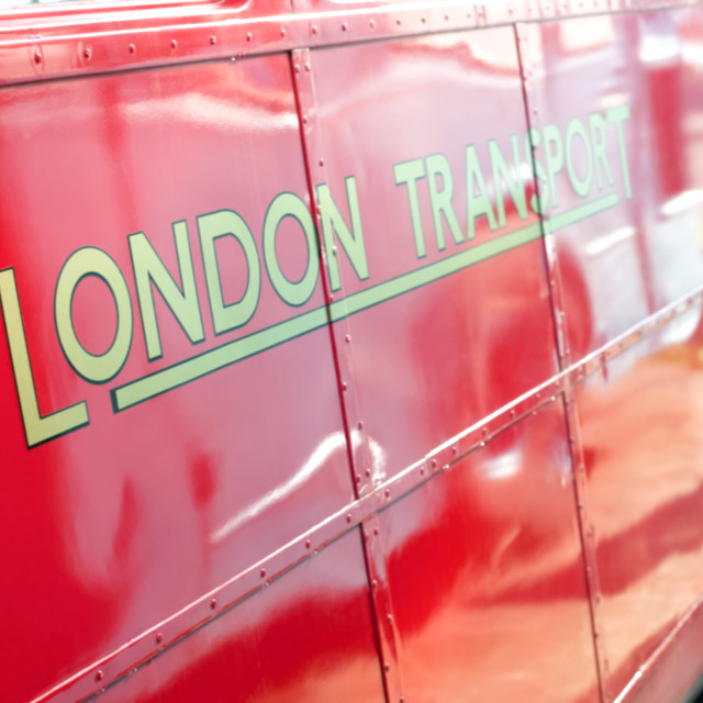 """London transport bus"" stock image"