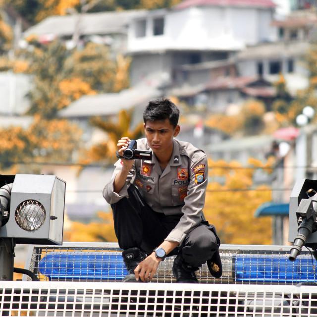 """police cameraman"" stock image"