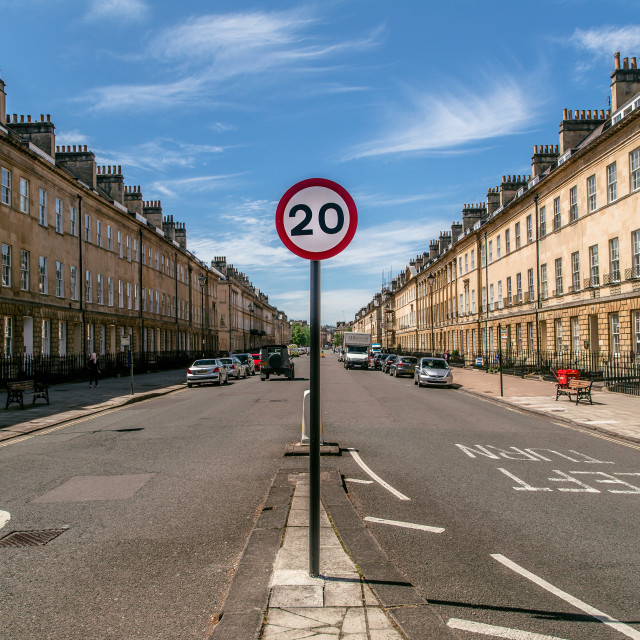 """Bath City - Great Pultney Street - road sign"" stock image"