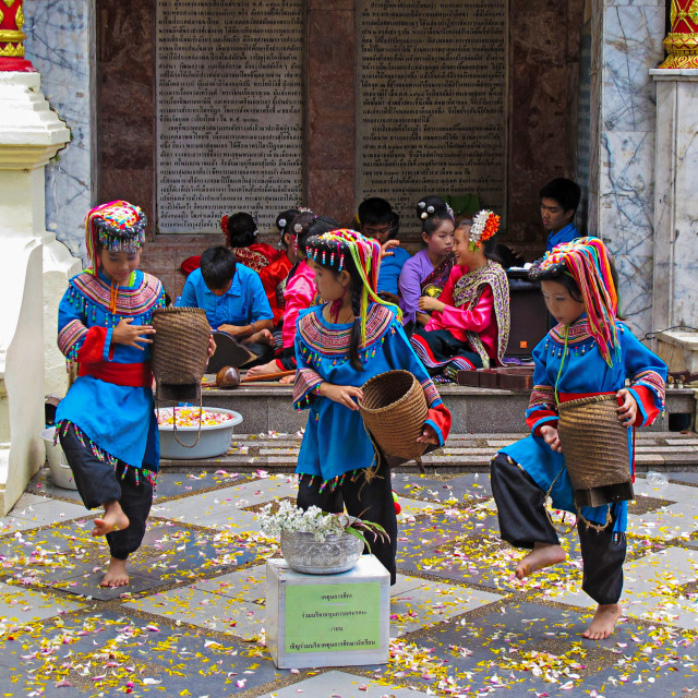 """Thai children dance"" stock image"