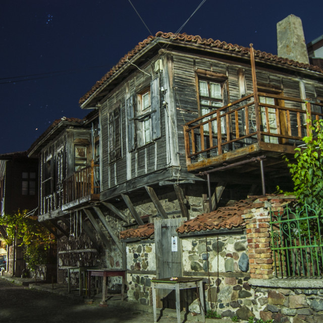 """Sozopol at night"" stock image"
