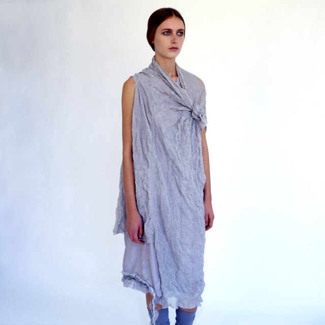 """Model wearing a handmade dress"" stock image"