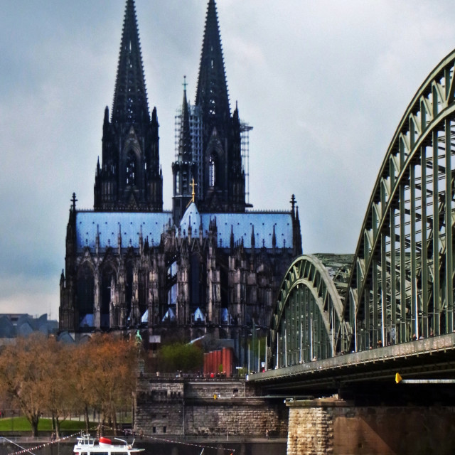 """""""Cologne Cathedral from behind"""" stock image"""