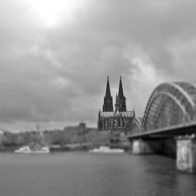 """""""Cologne Cathedral at the Rhine"""" stock image"""
