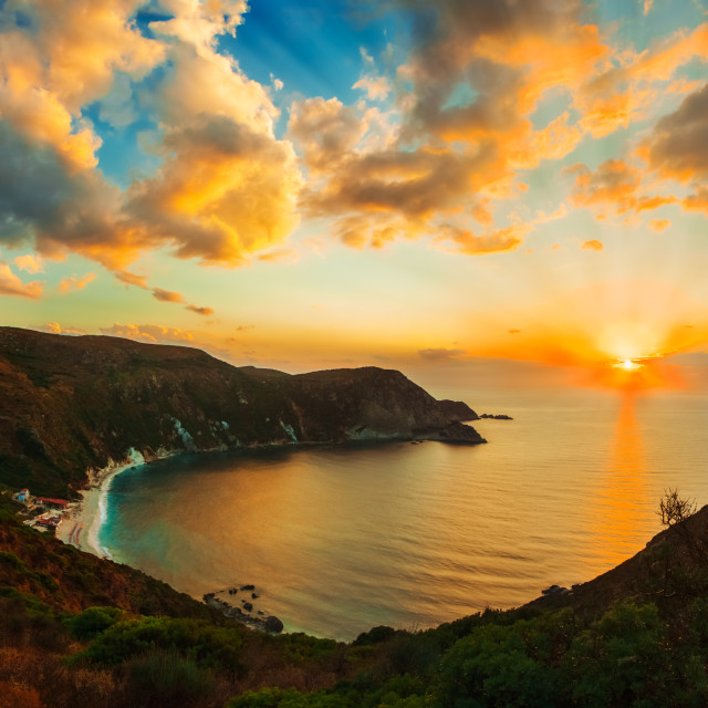 """Sunset in Cephalonia"" stock image"