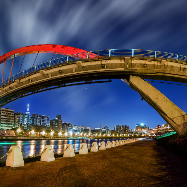 """Rainbow bridge panorama"" stock image"