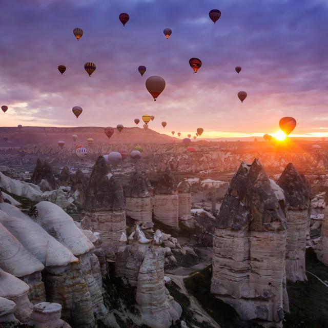 """Cappadocia sunrise"" stock image"
