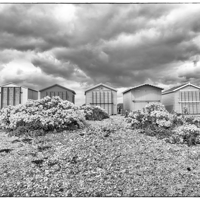 """Beach huts - Hayling Island"" stock image"