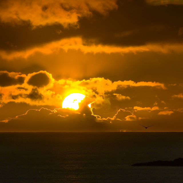 """Lanzarote Sunset"" stock image"