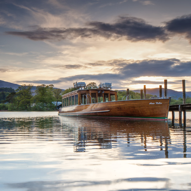 """Derwentwater launch"" stock image"