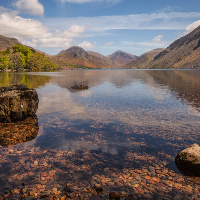 """Boulders on Wast Water"" stock image"
