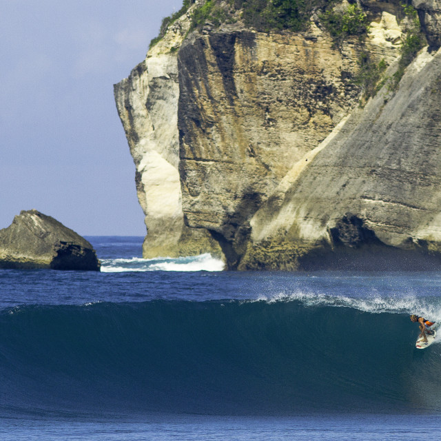 """""""Surfing Sumbawa"""" stock image"""