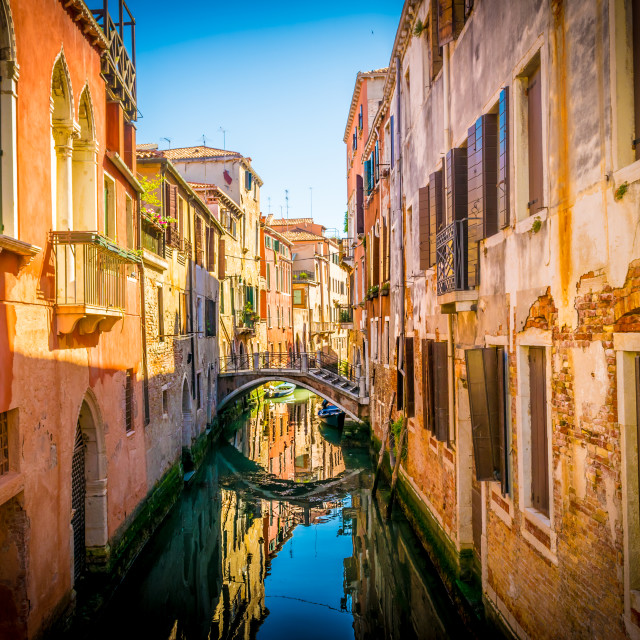 """street of venice"" stock image"