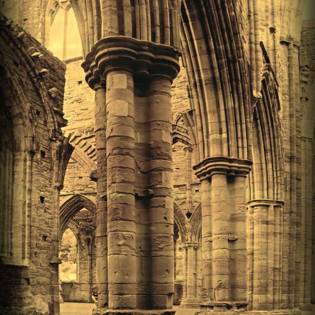 """Abbey column"" stock image"