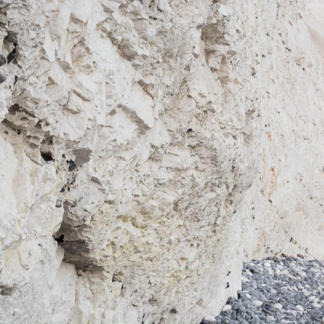 """Chalk cliff at mons klint"" stock image"