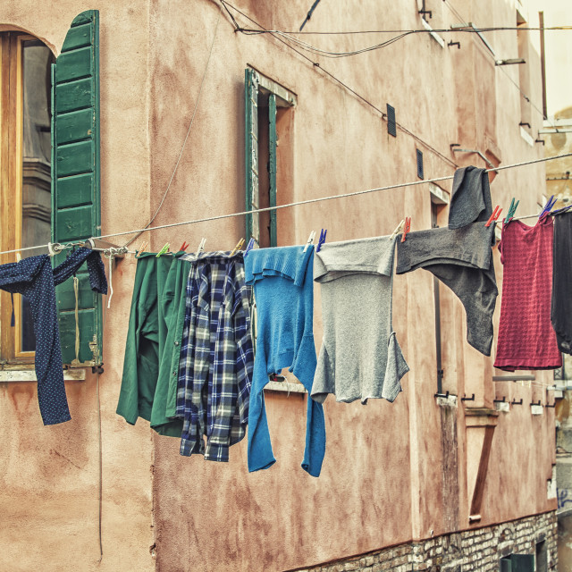 """Clothes to dry"" stock image"