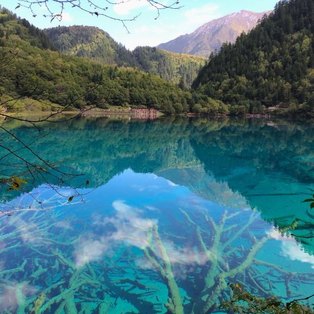 """Jiuzhaigou waters, China"" stock image"