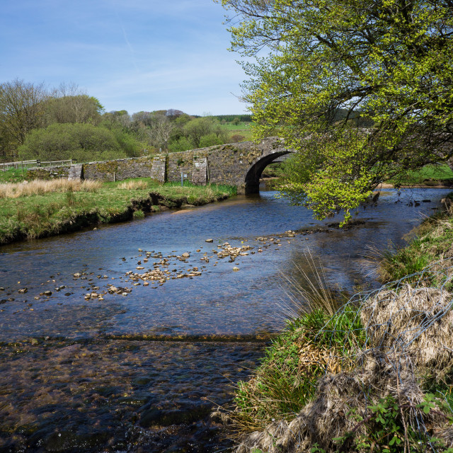 """Dartmoor Bridge"" stock image"