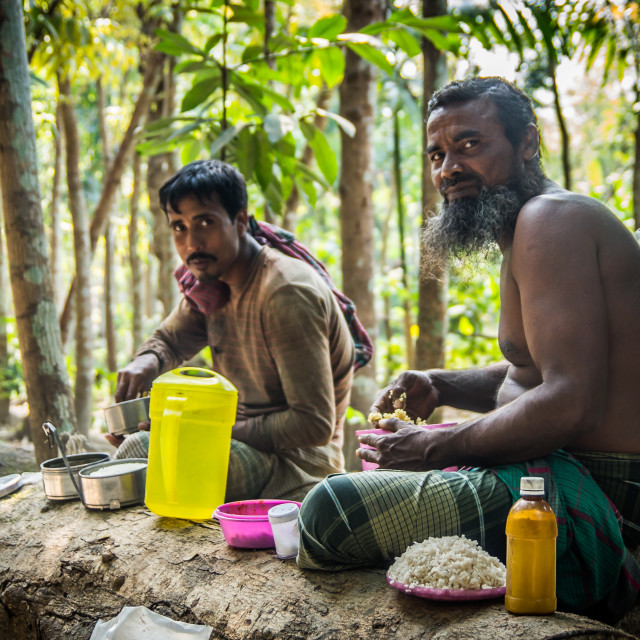 """""""Farmers having lunch"""" stock image"""