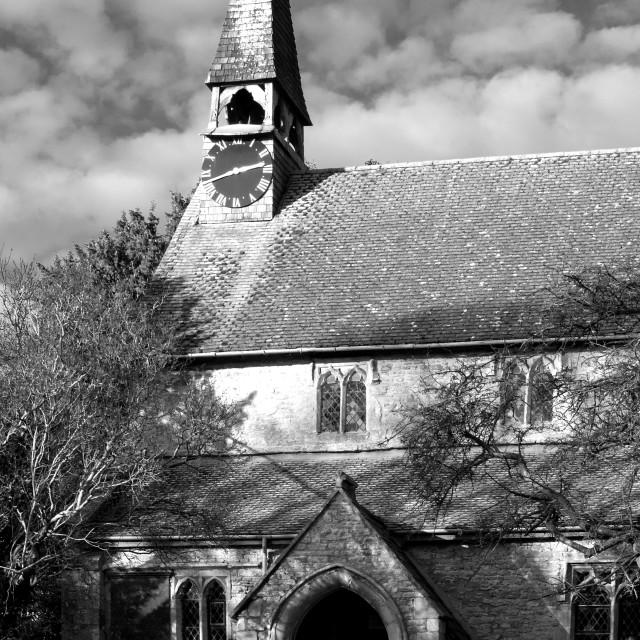 """Hethe Village Church"" stock image"