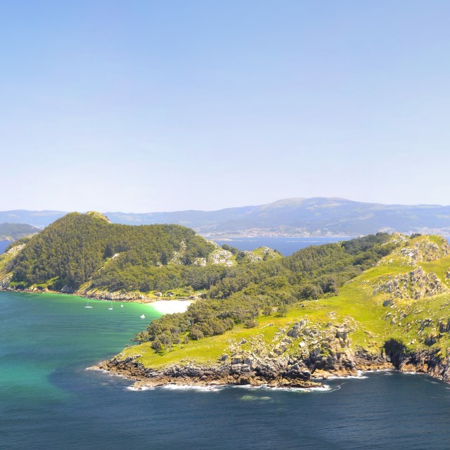 """Islands Cies in Vigo, Spain."" stock image"
