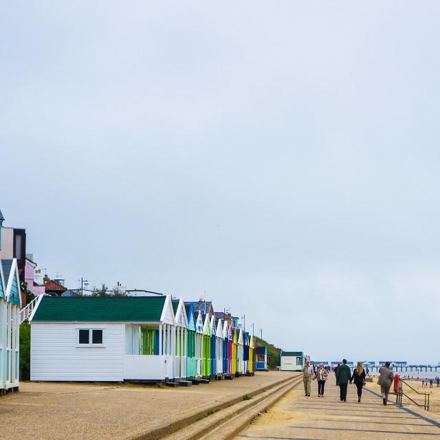 """Southwold Beach"" stock image"