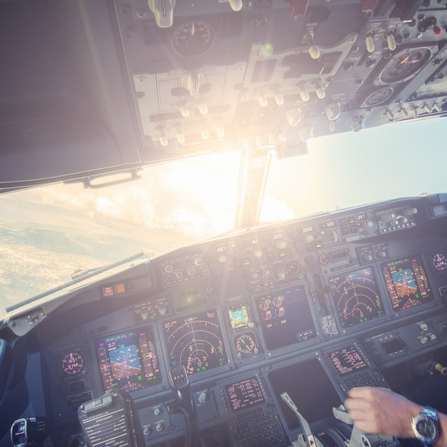 """Cockpit sunshine"" stock image"