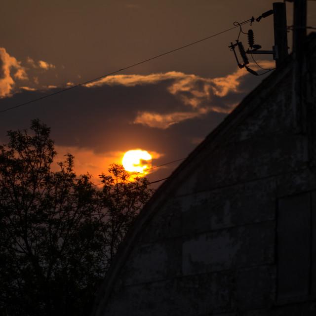 """Sunset Barn"" stock image"