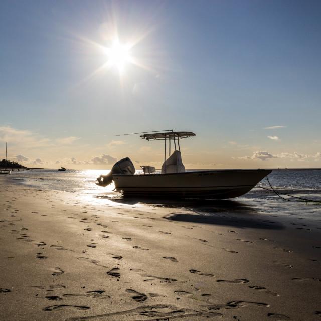 """""""Cape Cod Boat"""" stock image"""