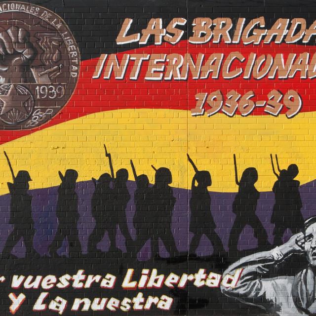 """""""Las Brigadas Internacionales Mural Belfast"""" stock image"""