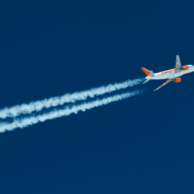 """Easyjet flyby"" stock image"