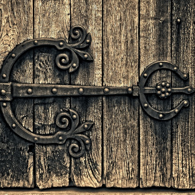 """Ancient Hinge"" stock image"