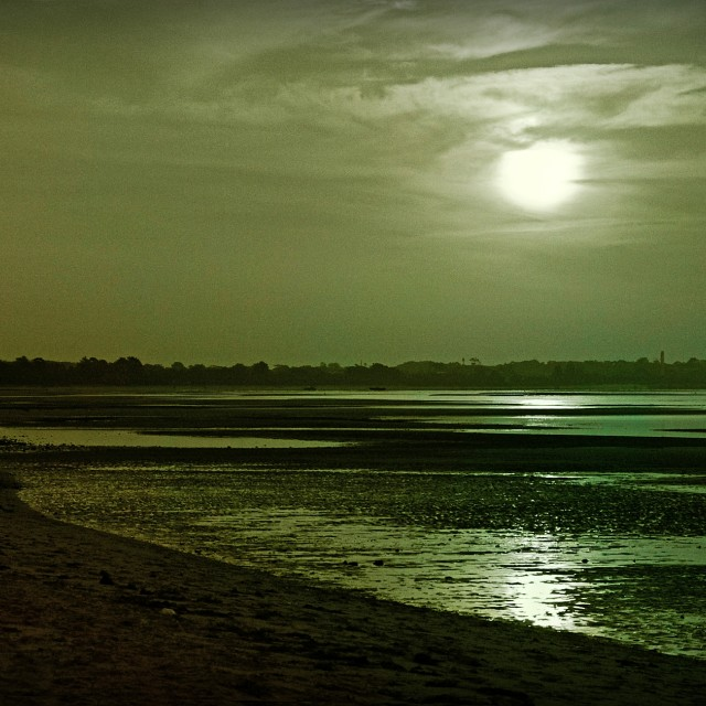 """Green Sunset"" stock image"