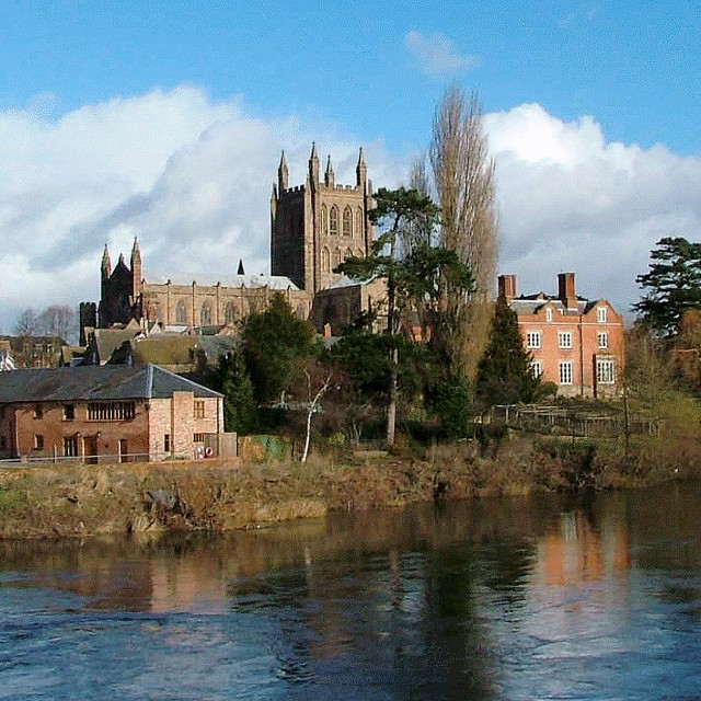 """""""Hereford Cathedral 2"""" stock image"""