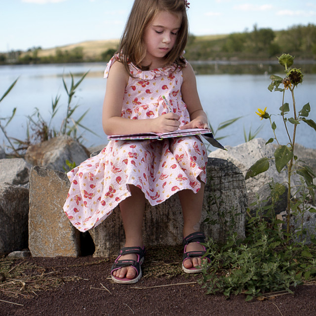 """Girl drawing"" stock image"
