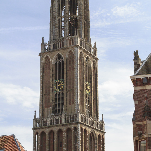 """Dom cathedral in Utrecht"" stock image"