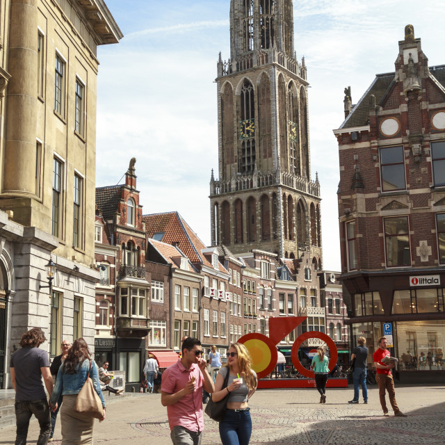 """Utrecht shopping"" stock image"
