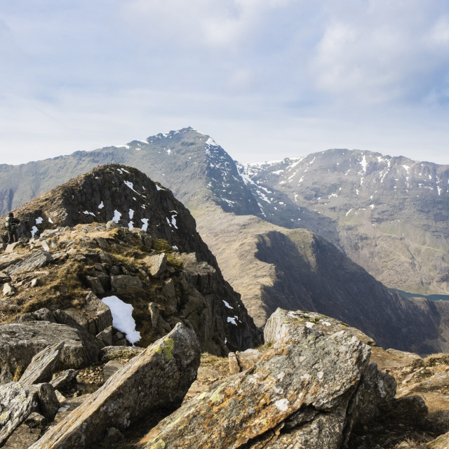 """""""Y Lliwedd Snowdonia Wales"""" stock image"""